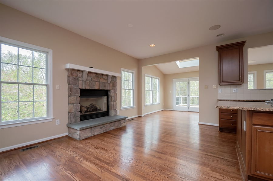 Real Estate Photography - 420 Nattull Dr, Bear, DE, 19701 - Gourmet Kitchen with Gas Stone Fireplace