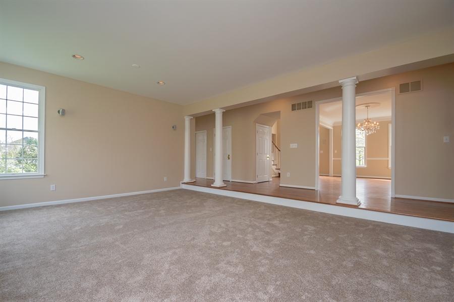 Real Estate Photography - 420 Nattull Dr, Bear, DE, 19701 - Family Room w/ New Carpeting & Recessed Lighting