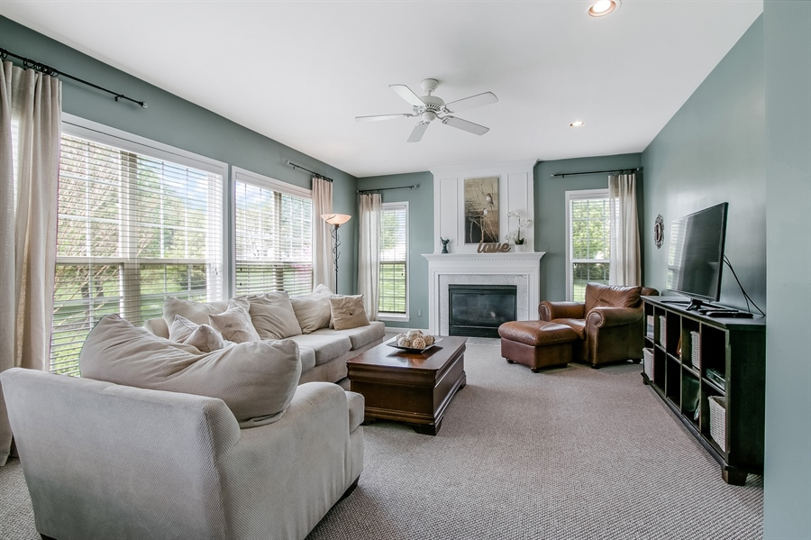 Real Estate Photography - 5 Rockwood Ct, Newark, DE, 19711 - Family Room with Fireplace