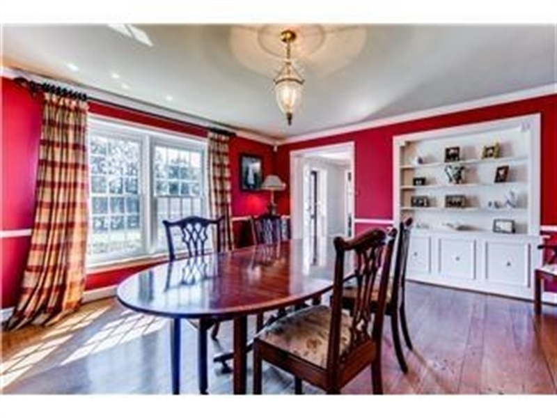 Real Estate Photography - 103 Brookmeadow Rd, Greenville, DE, 19807 - Dining Room with Built-in Display Cabinet