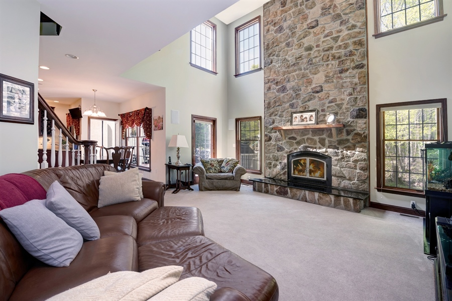 Real Estate Photography - 72 Woodholme Way, Elkton, MD, 21921 - TWO STORY STONE FIREPLACE