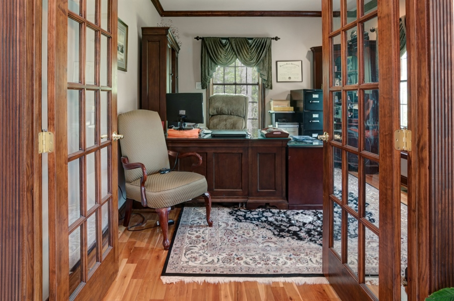 Real Estate Photography - 72 Woodholme Way, Elkton, MD, 21921 - FRENCH DOORS OPEN TO OFFICE/DEN