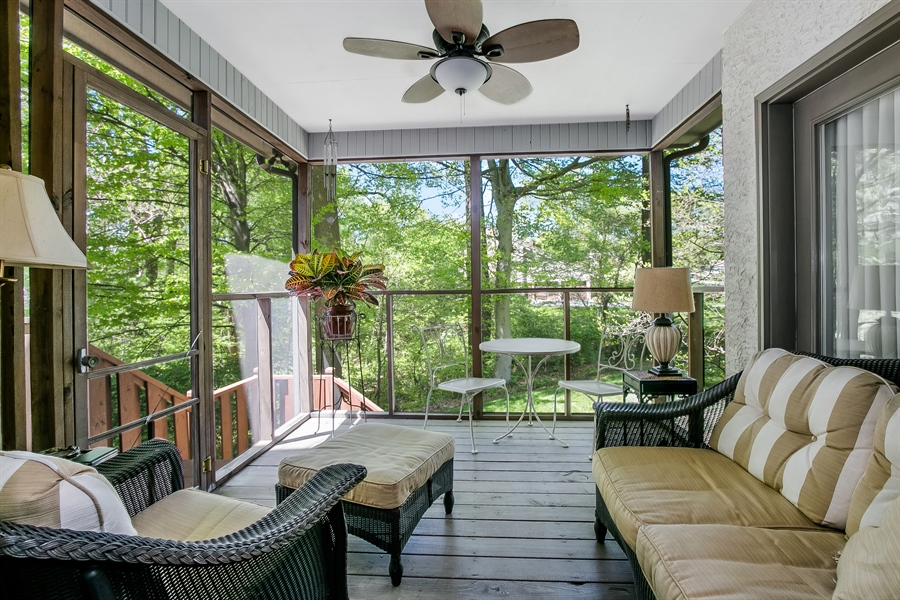 Real Estate Photography - 5 Boysenberry Dr, Hockessin, DE, 19707 - Screened Porch off Kitchen