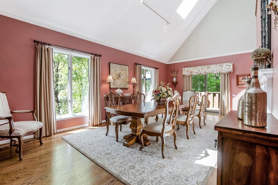 Real Estate Photography - 5 Boysenberry Dr, Hockessin, DE, 19707 - Dining Room with Fireplace