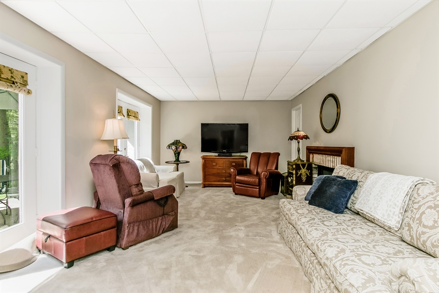 Real Estate Photography - 5 Boysenberry Dr, Hockessin, DE, 19707 - Family Room with French doors to Patio