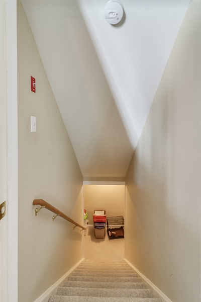 Real Estate Photography - 707 Spinnaker St, Middletown, DE, 19709 - Basement stairway down