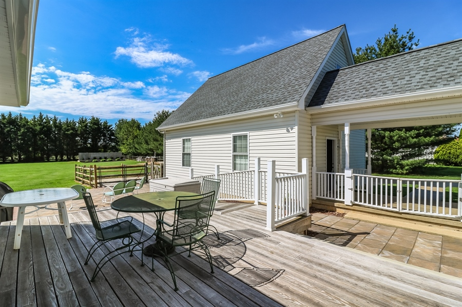 Real Estate Photography - 707 Spinnaker St, Middletown, DE, 19709 - Deck view to breezeway