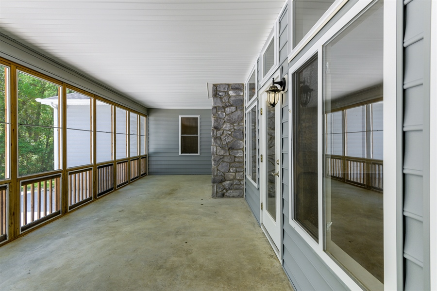 Real Estate Photography - 20835 Bull Pine Rd, Georgetown, DE, 19947 - Rear Screened Porch