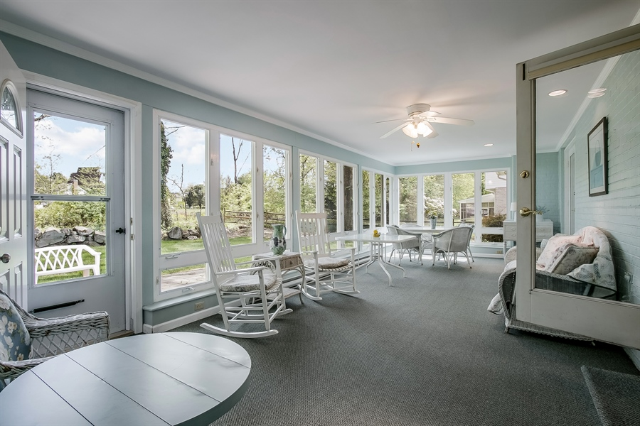 Real Estate Photography - 220 Stonecrop Rd, Wilmington, DE, 19810 - Fabulous Sun Room With Ceiling Fan