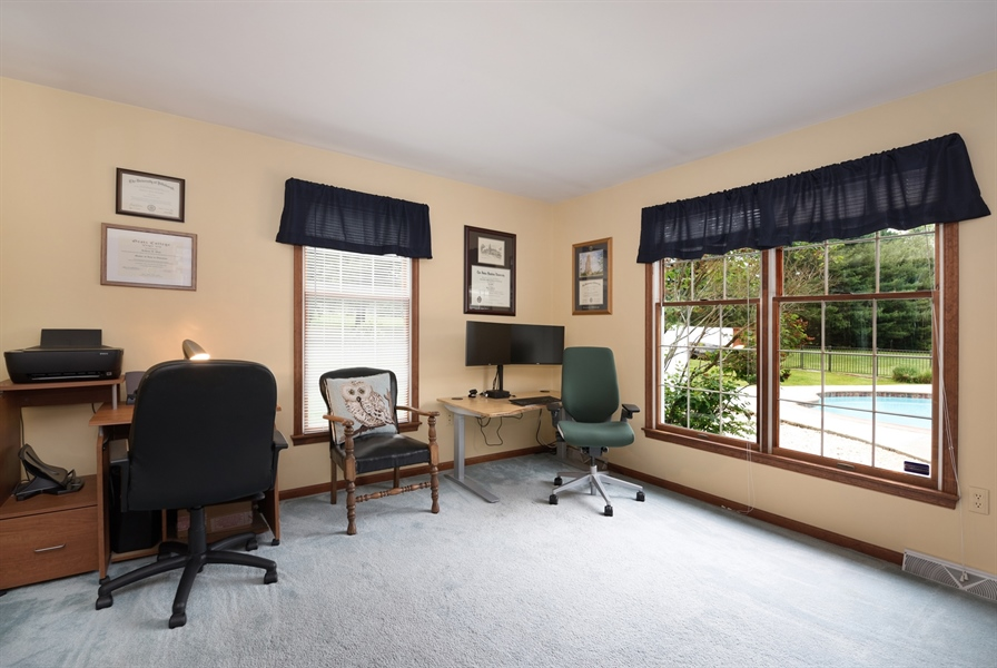 Real Estate Photography - 40 Middlecroft Rd, Elkton, MD, 21921 - DEN/OFFICE, VIEWS TO THE POOL