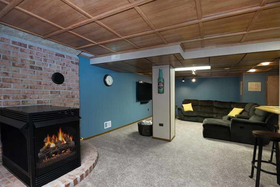 Real Estate Photography - 40 Middlecroft Rd, Elkton, MD, 21921 - LOWER LEVEL/FAMILY ROOM WITH GAS FIREPLACE