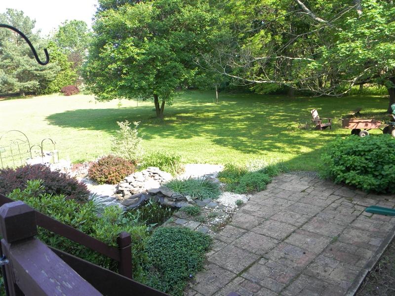 Real Estate Photography - 190 Kirkcaldy Dr, Elkton, MD, 21921 - Garden, fish pond
