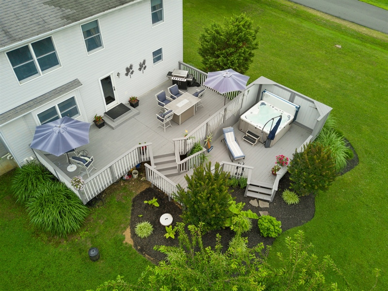 Real Estate Photography - 1436 Oldfield Point Rd, Elkton, MD, 21921 - Multi tied deck