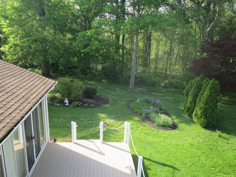 Real Estate Photography - 121 Brandywine Dr, Dover, DE, 19904 - View of the backyard from second floor