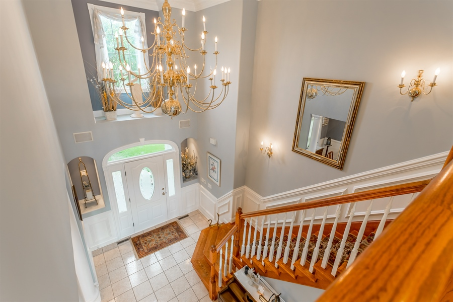 Real Estate Photography - 2 Plantation Ct, Ocean View, DE, 19970 - VIEW OF FOYER FROM THE CAT WALK