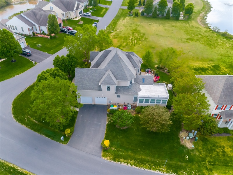 Real Estate Photography - 2 Plantation Ct, Ocean View, DE, 19970 - AERIAL VIEW OF THE SIDE OF THE HOME