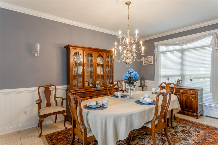 Real Estate Photography - 2 Plantation Ct, Ocean View, DE, 19970 - SPACIOUS DINING ROOM