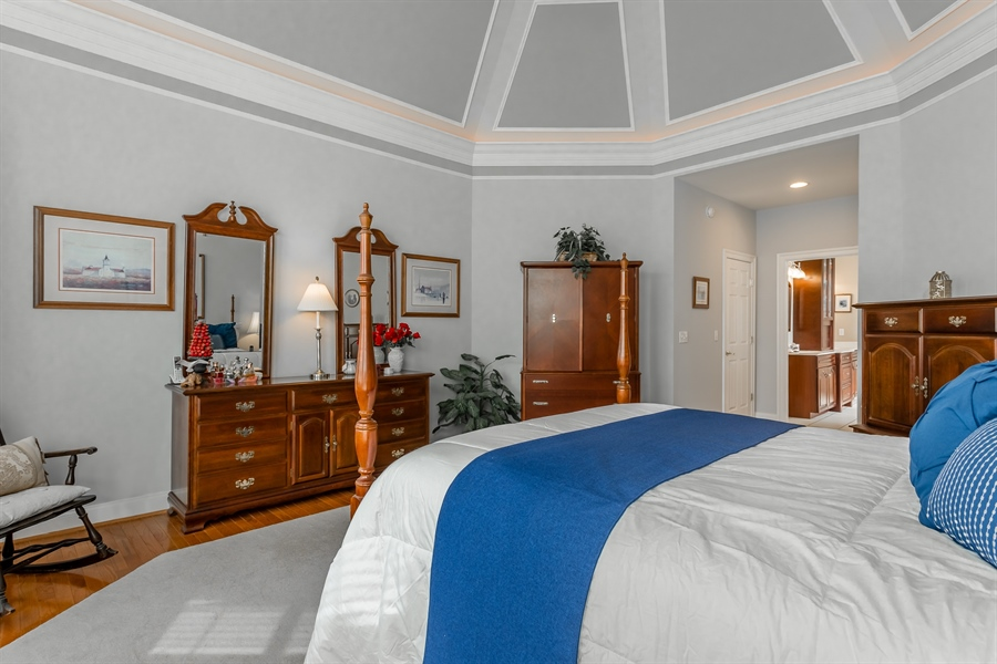 Real Estate Photography - 2 Plantation Ct, Ocean View, DE, 19970 - MAIN BEDROOM SUITE WITH TRAY CEILING