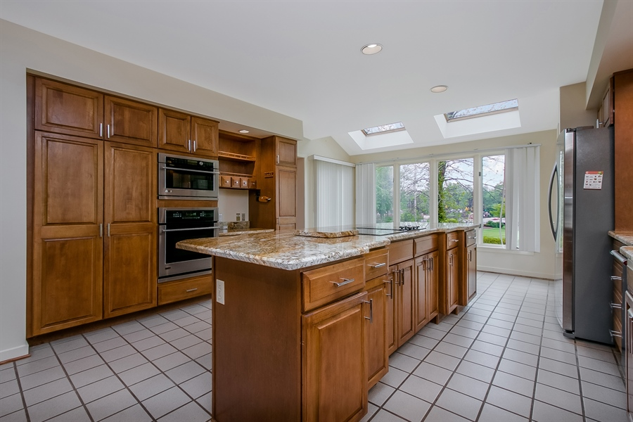 Real Estate Photography - 3102 Kennett Pike, Greenville, DE, 19807 - Kitchen with skylights and recessed lighting