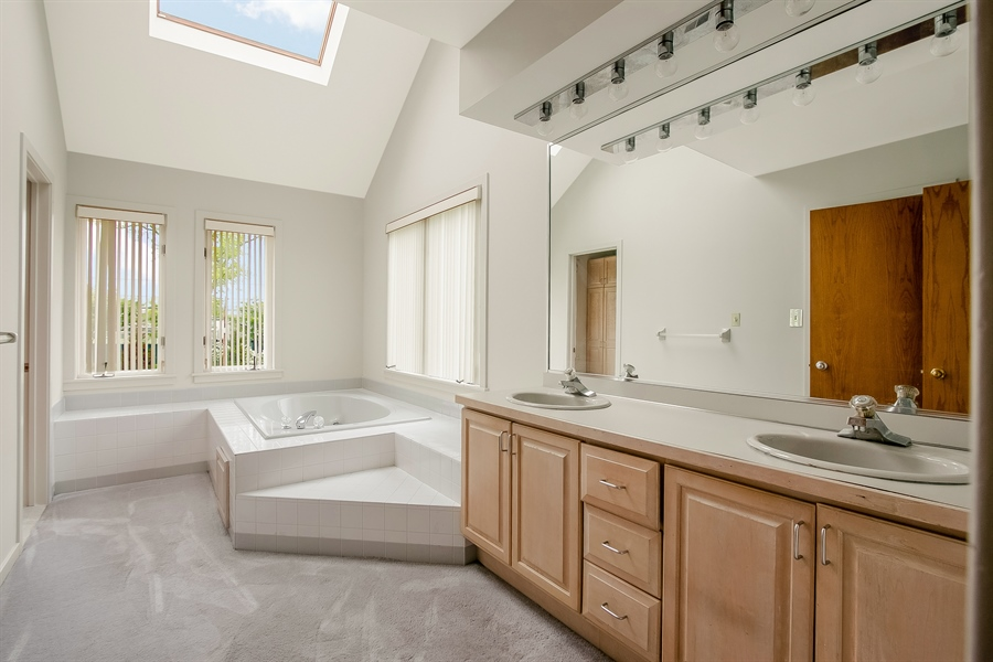 Real Estate Photography - 3102 Kennett Pike, Greenville, DE, 19807 - Master Bath with skylights and jetted tub