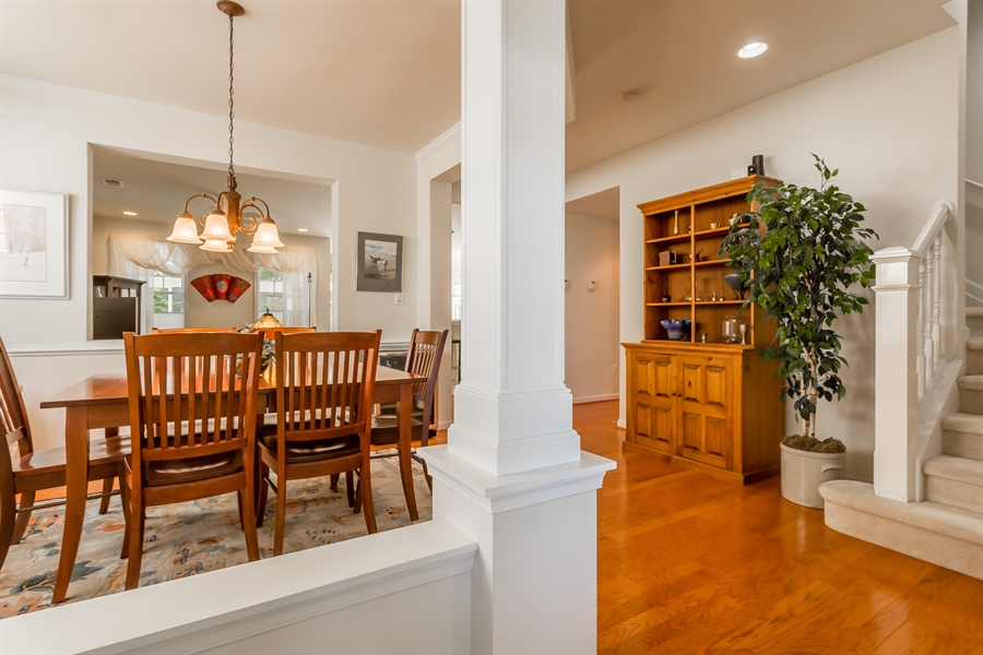 Real Estate Photography - 101 Emilys Pintail Dr, Bridgeville, DE, 19933 - FOYER AND DINING ROOM