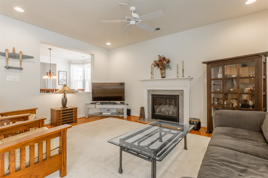Real Estate Photography - 101 Emilys Pintail Dr, Bridgeville, DE, 19933 - GREAT ROOM WITH GAS FIREPLACE