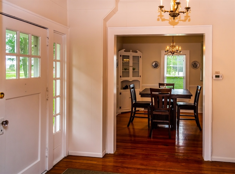 Real Estate Photography - 955 Vance Neck Rd, Middletown, DE, 19709 - Foyer to Dining Room