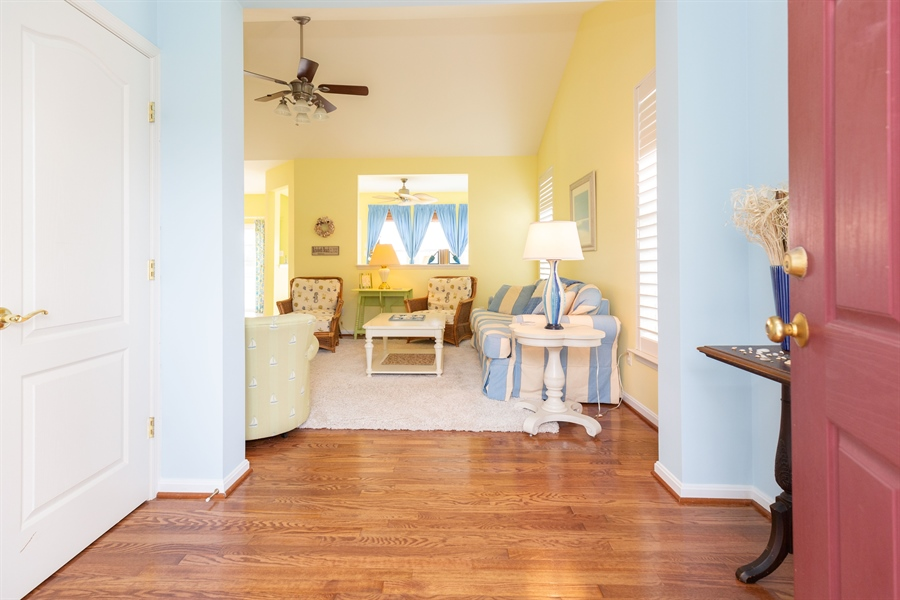 Real Estate Photography - 14 Wauwinet Ct, Rehoboth Beach, DE, 19971 - Welcome! Pretty Hardwood Entry