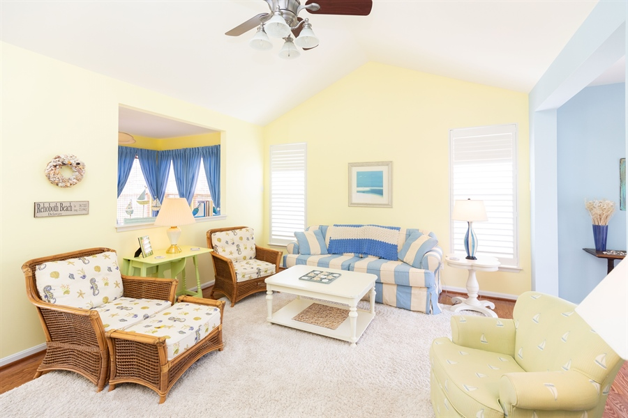 Real Estate Photography - 14 Wauwinet Ct, Rehoboth Beach, DE, 19971 - Spacious Living Room
