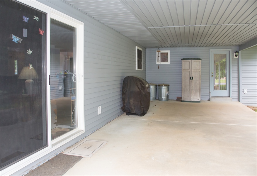 Real Estate Photography - 301 Diemler Street, Odessa, DE, 19730 - View of rear covered patio