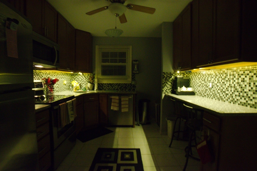 Real Estate Photography - 13 Cook Rd, Newark, DE, 19711 - Undercabinet Lighting at Night