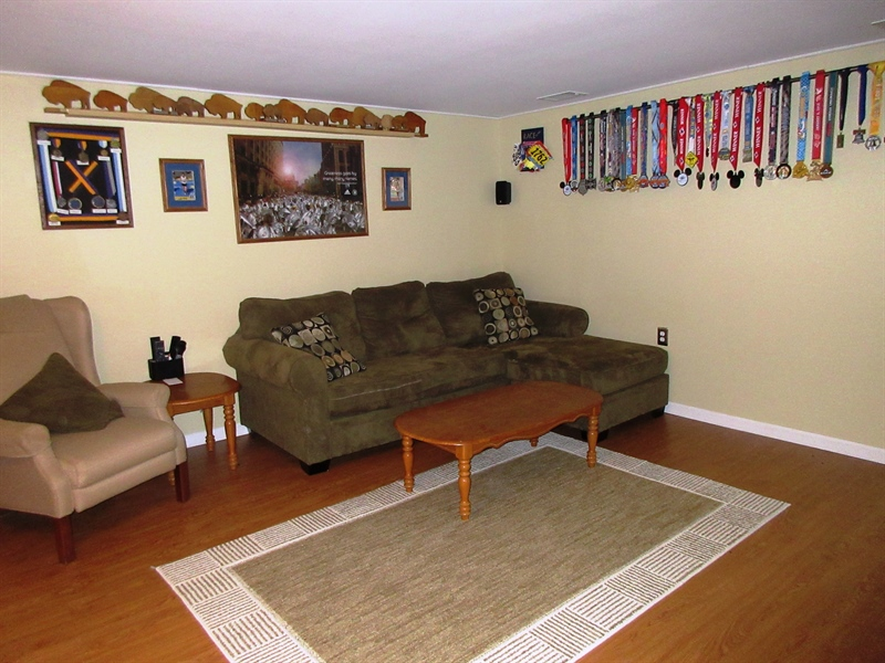 Real Estate Photography - 13 Cook Rd, Newark, DE, 19711 - Large 16' x 14' Finished Basement Area
