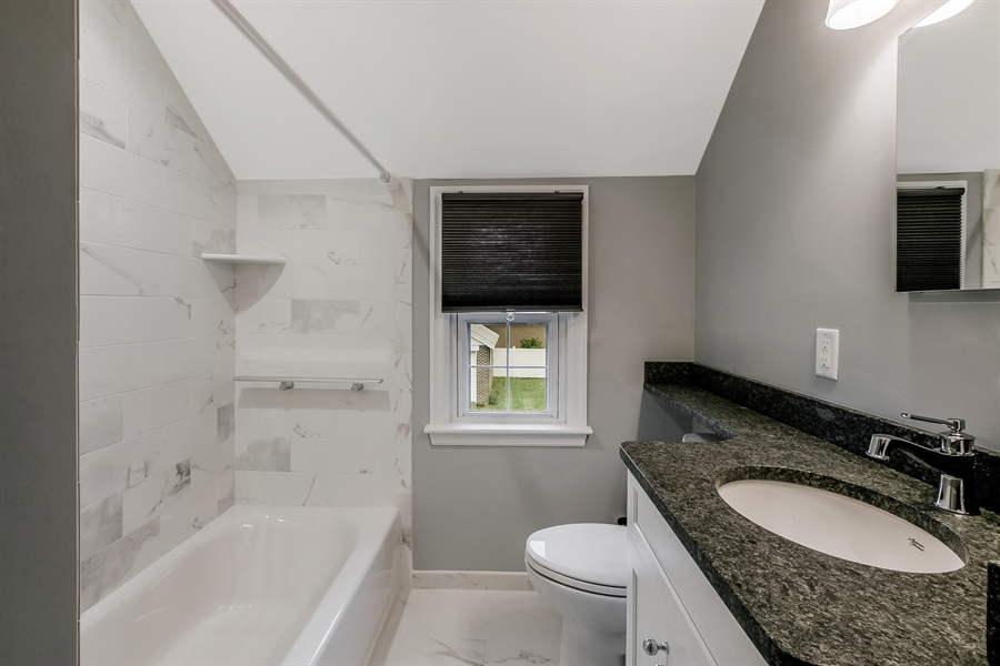 Real Estate Photography - 2606 Cleveland Ave, Claymont, DE, 19703 - Beautifully renovated full bath