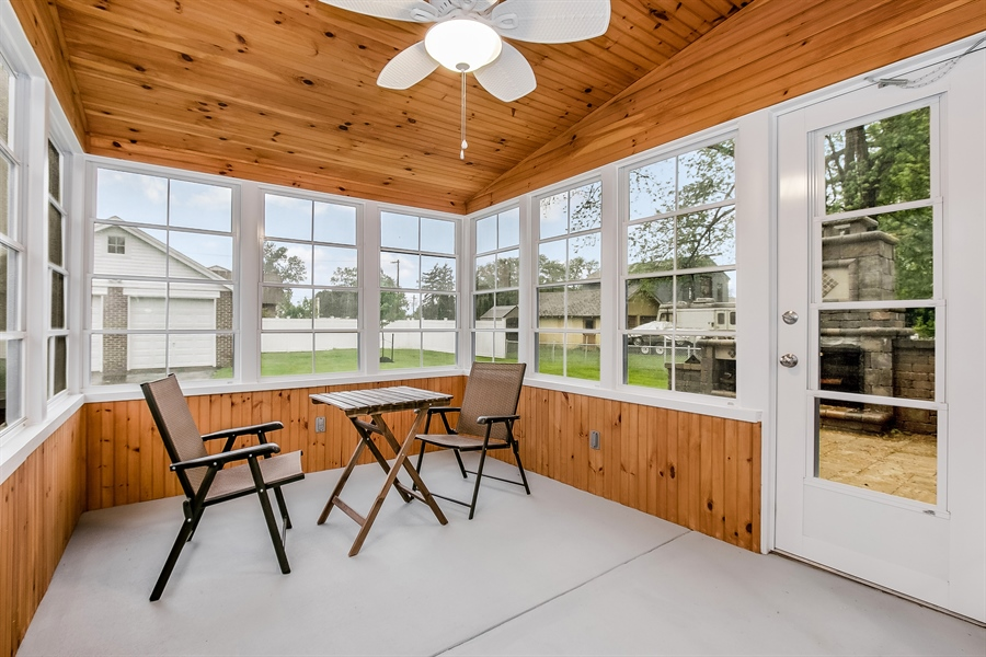 Real Estate Photography - 2606 Cleveland Ave, Claymont, DE, 19703 - Magnificent sunroom!