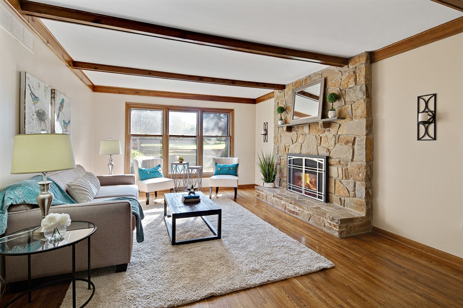 Real Estate Photography - 614 Normans Ln, Newark, DE, 19711 - Family Room with gas fireplace