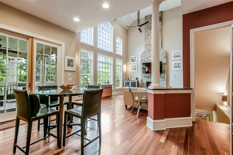Real Estate Photography - 100 Wayland Rd, Greenville, DE, 19807 - Family Room with Back Staircase