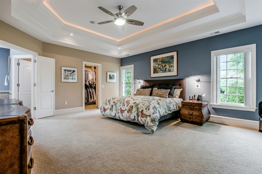 Real Estate Photography - 100 Wayland Rd, Greenville, DE, 19807 - Master Bedroom with Fireplace