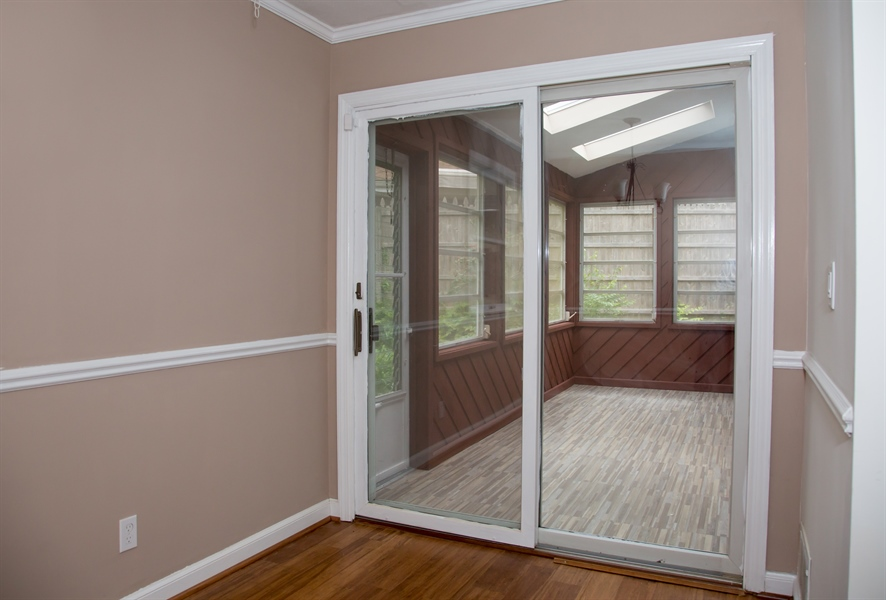 Real Estate Photography - 9 Brookland Ave, Wilmington, DE, 19805 - Dining area opens to rear sunroom!