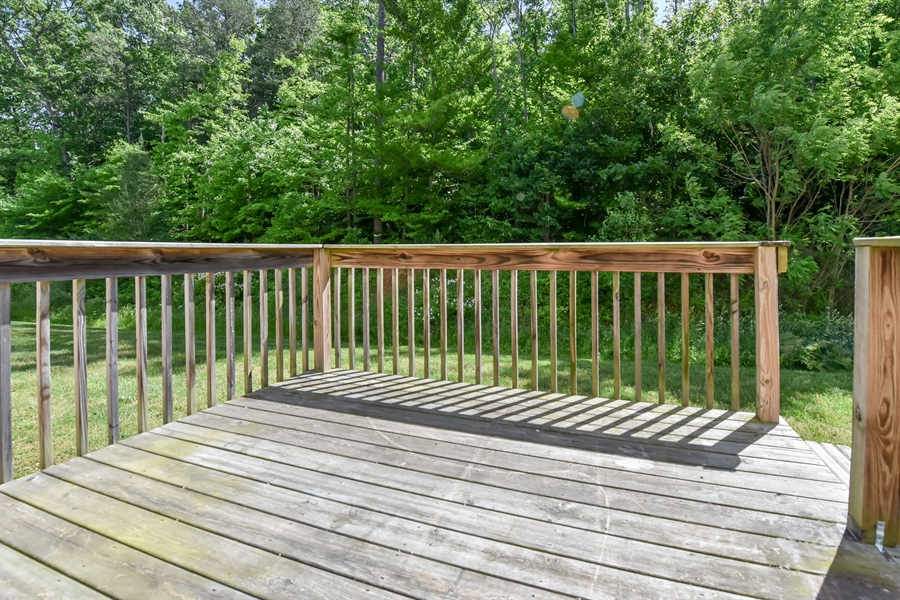 Real Estate Photography - 153 Ben Boulevard, Elkton, DE, 21921-7422 - Deck off Kitchen perfect for grilling or relaxing