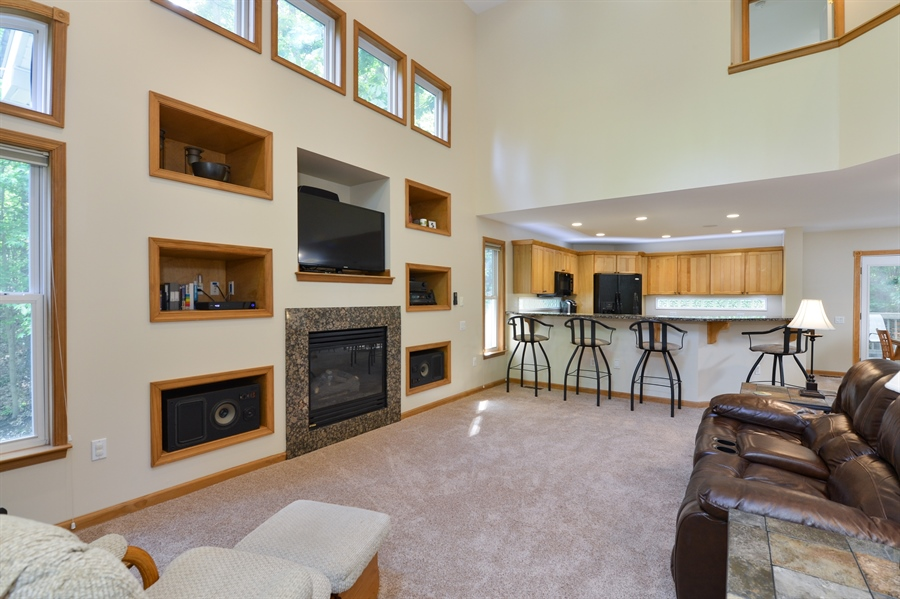 Real Estate Photography - 1155 Shady Beach Rd, Elkton, MD, 21921 - 2 story Great Room flooded with natural light