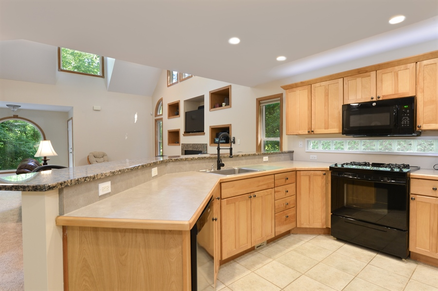 Real Estate Photography - 1155 Shady Beach Rd, Elkton, MD, 21921 - Kitchen-lots of prep space & granite breakfast bar