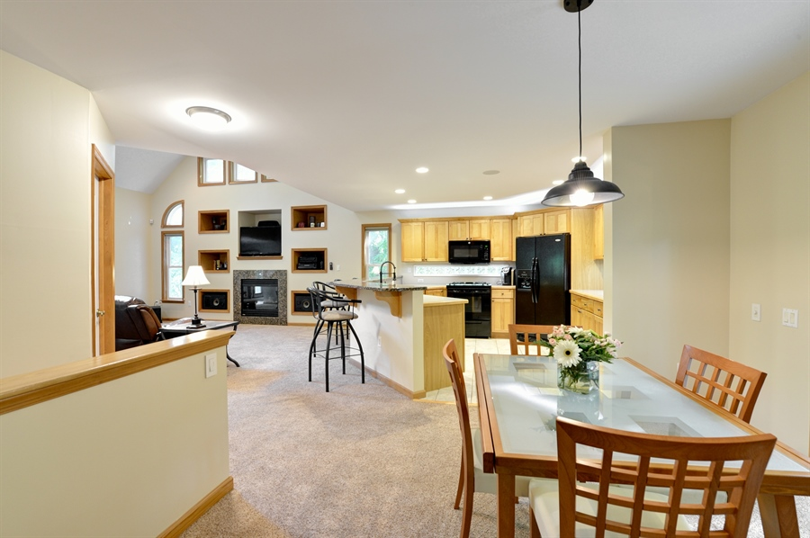 Real Estate Photography - 1155 Shady Beach Rd, Elkton, MD, 21921 - View of O-P-E-N floorplan with 2 story ceiling