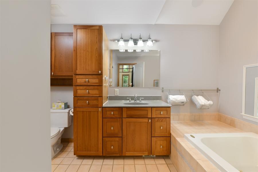 Real Estate Photography - 1155 Shady Beach Rd, Elkton, MD, 21921 - MasterBath, Kraftmaid cabinets, single bowl vanity