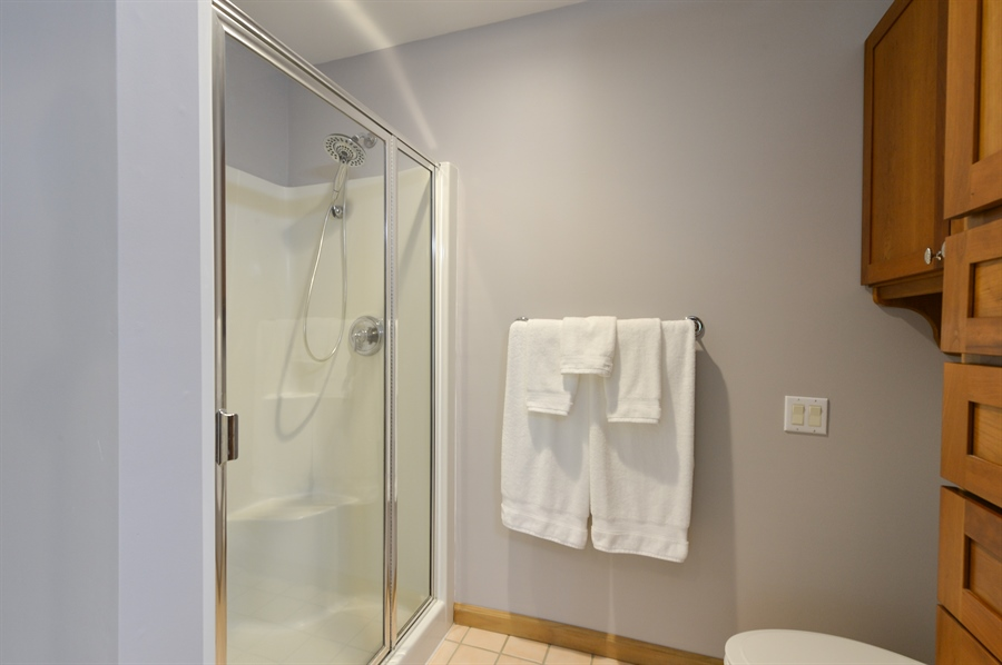 Real Estate Photography - 1155 Shady Beach Rd, Elkton, MD, 21921 - Step in shower, new 2 piece showerhead