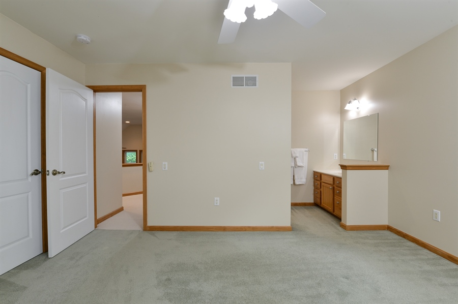 Real Estate Photography - 1155 Shady Beach Rd, Elkton, MD, 21921 - Private vanity & access to bath, large closets