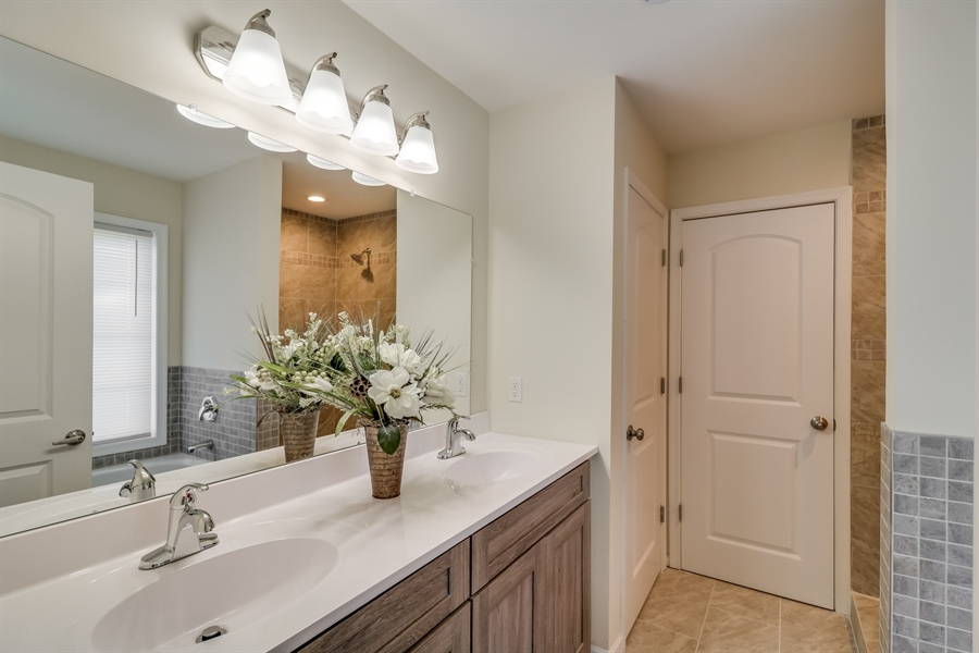 Real Estate Photography - 81 Goshawk Ln, Camden Wyoming, DE, 19934 - Master bathroom with double vanity