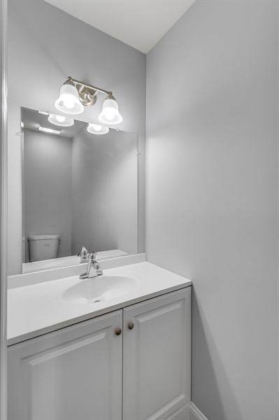 Real Estate Photography - 81 Goshawk Ln, Camden Wyoming, DE, 19934 - Powder room on 1st floor