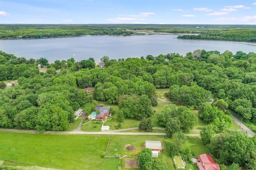 Real Estate Photography - 827 Locust Point Rd, Elkton, MD, 21921 - Ariel View with View of the Water