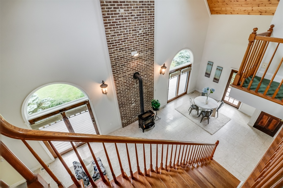 Real Estate Photography - 827 Locust Point Rd, Elkton, MD, 21921 - View from Loft into Great Room