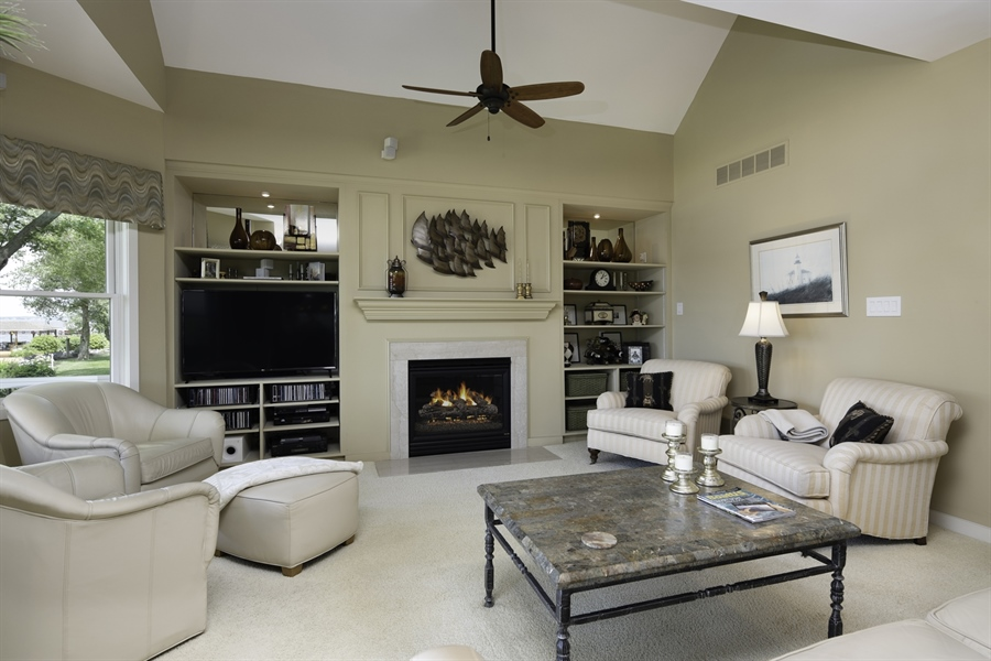 Real Estate Photography - 64 Shipwatch Ln, Chesapeake City, MD, 21915 - CUSTOM BUILT IN, GAS FIREPLACE